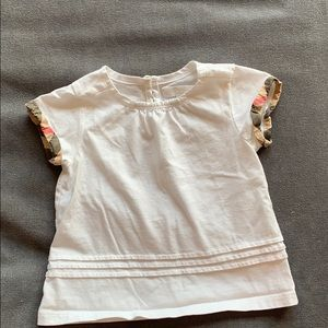 Burberry baby 12 month white top